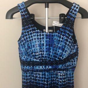 Blue print dress size s